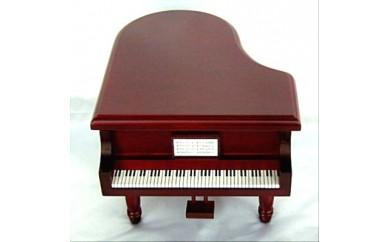 001-015 < 18弁オルゴール > 宝石箱(グランドピアノ)