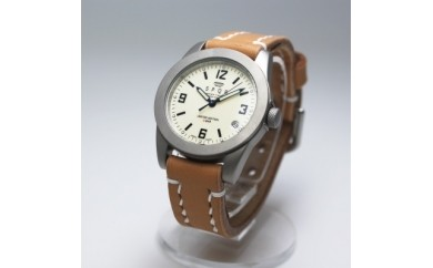 009-001 < 腕時計 > SPQR(スポール)マスターピース 文字盤:アイボリー / バンド:ブラック