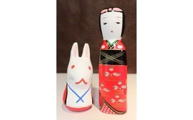 K097.はこた人形&因幡の白兎セット