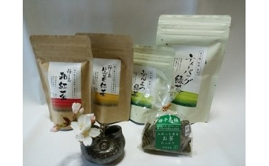特典番号35.種子島松寿園の味自慢茶セット 380pt
