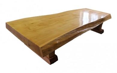 [№5723-0057]バッコヤナギ一枚天板(約8cm)座卓