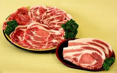 [№5732-0057]かわい農場産オリジナル豚 白神豚焼肉セット