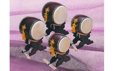 飾り太鼓4寸(台バチ付)
