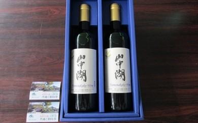 [№5768-0031]山中湖ワイン2本セット+紅富士の湯無料招待券(ペア)+ボディケア(60分)
