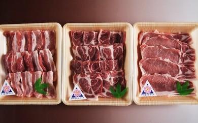 [№5768-0012]甲州富士桜ポーク焼肉食べ比べ