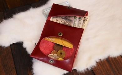 [№5698-0183]加西市オリジナルロゴ入り     コンパクト三つ折り財布