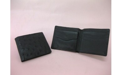 (112) オーストリッチ 半財布(黒)