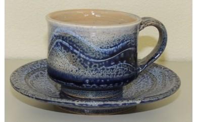 【115】 瀬山焼 銀河 コーヒー碗・皿