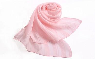 [№5656-0104]桜染 シルクストライプスカーフ