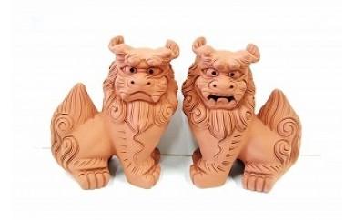 中城窯 朝日陶器 手造りシーサー 中立