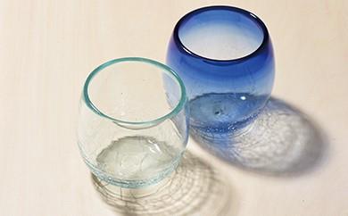 AH24 琉球ガラス タルカップグラス 2個