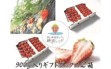 1-001 「まきのはら発ブランドイチゴ、【恋い味、紅ほっぺ。静波レッド】贅沢ギフトセット」