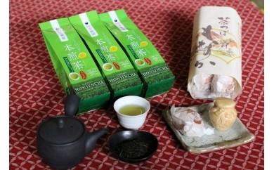田舎の懐かしい最中とほっと一息煎茶