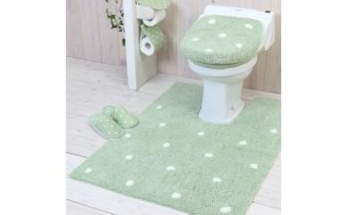 YK28 幅広ロングトイレ5点セット 洗浄暖房用 グリーン【スイートドロップ】【40p】