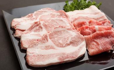 [№5674-0201]バウムクーヘンで育ったむさし麦豚®堪能セット3ヵ月コース(月1回・3回配送)