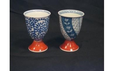 H022伊万里焼フリーカップ2個セット(蛸唐草、祥瑞)