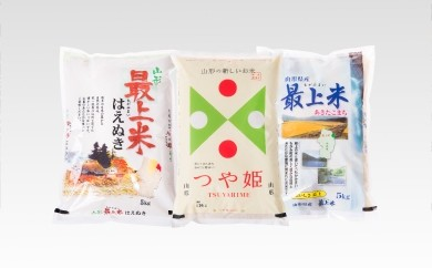 014-001-2 山形県最上町産米食べ比べセット2種セット【はえぬき・あきたこまち】