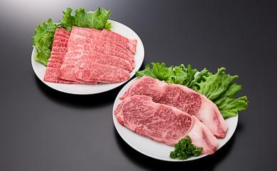 4-(1)【A4ランク以上】山形牛サーロインステーキ&カルビセット(計960g)
