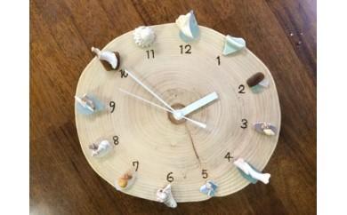 ヒノキ丸太で壁かけ時計を作ろう