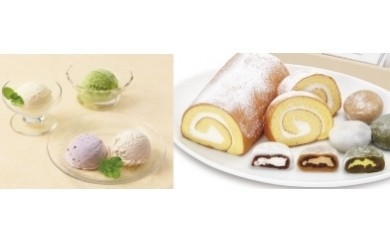 306アイスクリームとロールケーキと大福