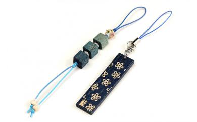 001-030 藍染めwood ストラップセット