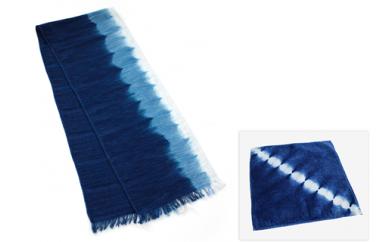 001-026 阿波藍染 タオルマフラーセット