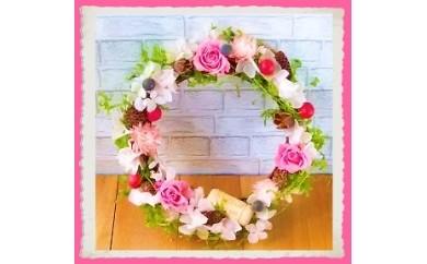 396 ~永遠のバラで贈る~ 「ロマンチックローズリース」プリンセスピンク