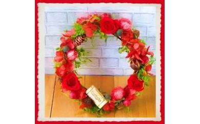 399 ~永遠のバラで贈る~ 「ロマンチックローズリース」ルビーレッド