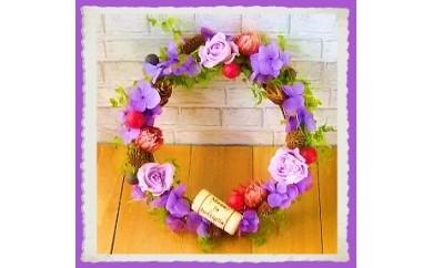 400 ~永遠のバラで贈る~ 「ロマンチックローズリース」スイートライラック