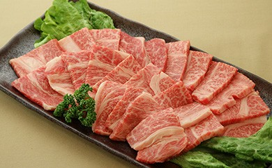 245 焼肉用!鹿児島県産黒毛和牛(A4等級)肩ロースカルビ800g!