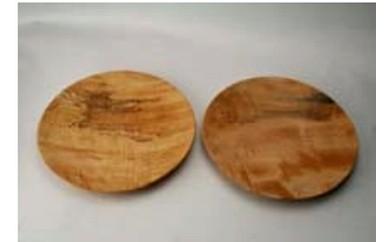 B-207 南木曽の栃の木をろくろで挽いたお皿セット