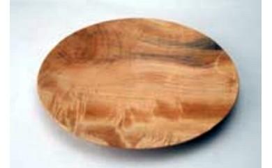A-208 南木曽の栃の木をろくろで挽いたお皿