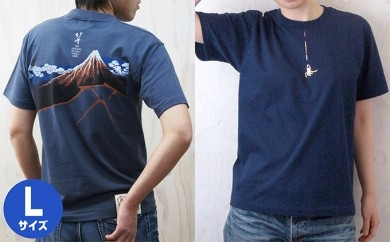 [№5630-0140]北斎プロジェクト 蜘蛛の糸+北斎プロジェクト 山下白雨 Tシャツ Lセット