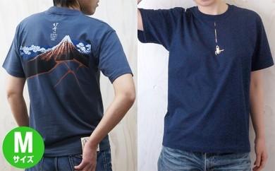 [№5630-0139]北斎プロジェクト 蜘蛛の糸+北斎プロジェクト 山下白雨 Tシャツ Mセット