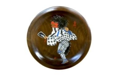 018-012農民美術 飾鉢 上田獅子 8寸(24cm)