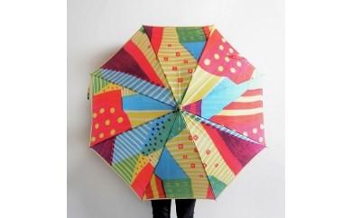 高級晴雨兼用傘「マルサンカクシカク」(赤)