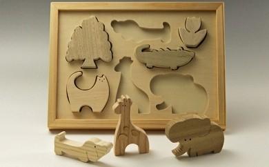A169 手作り木工 動物積木パズル