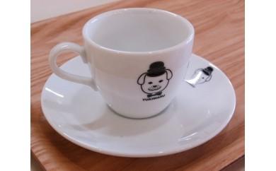 No.061 雪丸コーヒーカップとソーサー2組セットとケーキ皿2枚セット【4pt】