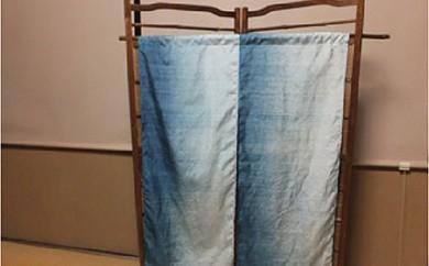 D003 大石紬藍染めの簾 グラデーション染め【190P】