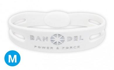 [№5809-0149]BANDEL bracelet(バンデルブレスレット) White×Silver Mサイズ