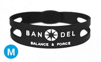 [№5809-0131]BANDEL bracelet(バンデルブレスレット) Black×White Mサイズ