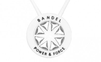 [№5809-0140]BANDEL necklace(バンデルネックレス) White×Silver 45cm
