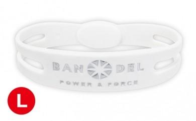 [№5809-0148]BANDEL bracelet(バンデルブレスレット) White×Silver Lサイズ