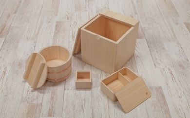 【香り豊かな木工品】樅の木キッチンセット   30-0805