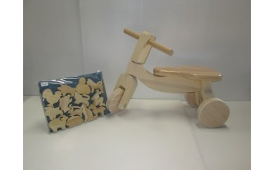 B-1 木製三輪車と干支