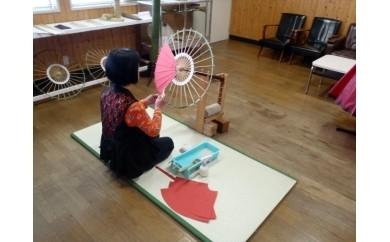 「ミニ和傘」色物 紙張り体験