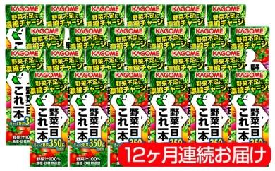 [№5821-0049]【12ヶ月連続】野菜一日これ一本(24本入り)