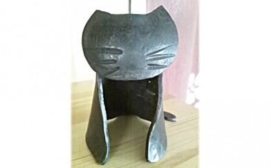 [№5821-0033]鍛鉄(たんてつ)でつくる「猫・小」
