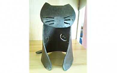 [№5821-0044]鍛鉄(たんてつ)でつくる「猫・中」