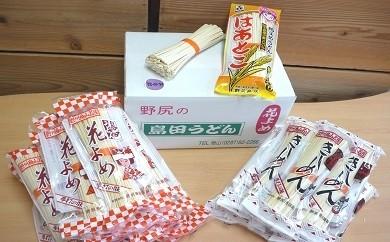 A-22 島田うどん花よめ・きしめん詰合せ6kg+おまけのこだわり麺